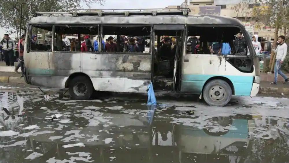 Explota bomba al paso de autobús escolar en Irak; mueren cuatro niños - Foto de AP