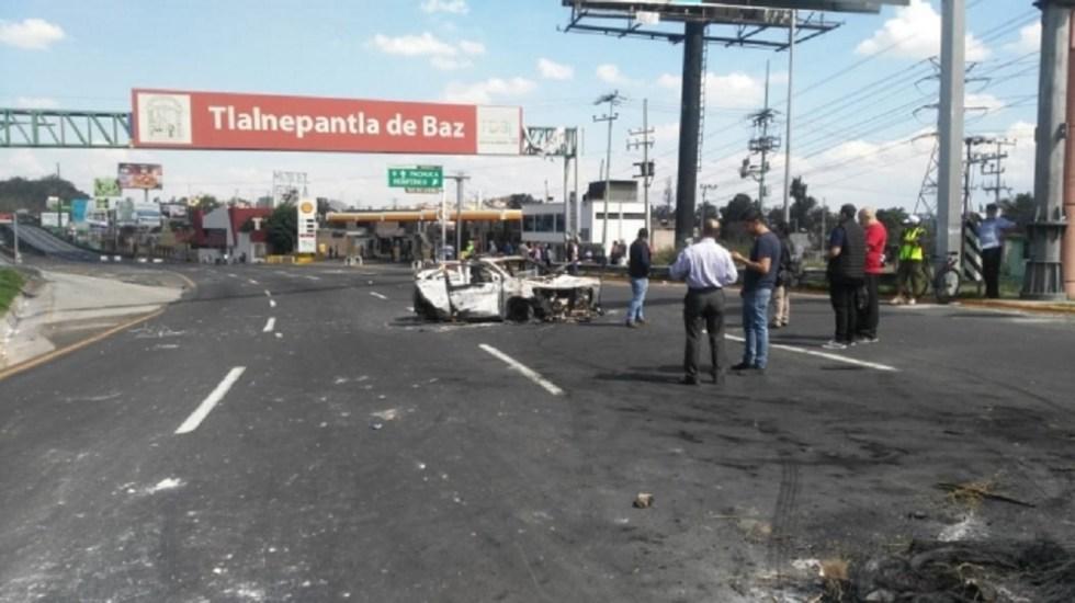 Arriban granaderos a la Autopista México-Pachuca - Foto de Notimex
