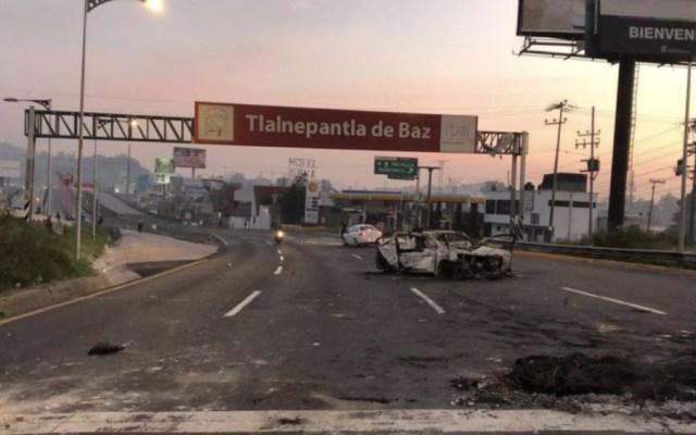 Se reúnen Amieva y pobladores de San Juan Ixhuatepec; reconocen abusos de la SSP-CDMX - Bloqueo autopista México-Pachuca. Foto de Foro TV