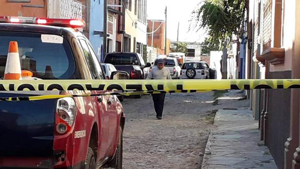 Hallan cadáveres de matrimonio estadounidense en San Miguel de Allende - Calle San Jorge, San Miguel de Allende, donde ocurrieron las muertes. Foto de El Sol del Bajío