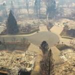 El antes y el después del Camp Fire en la ciudad de Paradise - Devastación en Paradise. Foto de AFP / Getty Images