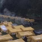 Colombia expulsa a venezolanos por disturbios en campamento humanitario - Foto de @Diana_PMoralesM