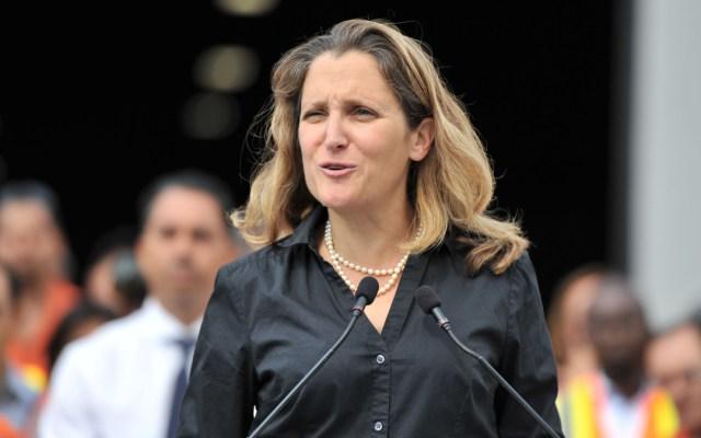 Se están ultimando detalles del T-MEC: Chrystia Freeland - Foto de AFP