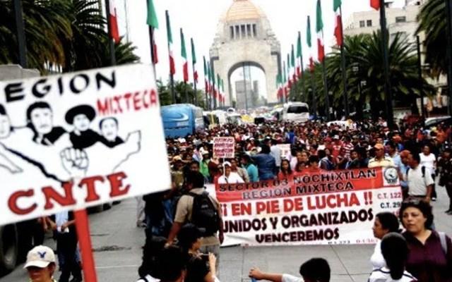 """""""No queremos solo la palabra y el compromiso del presidente"""": CNTE - cnte manifestaciones reforma educativa"""