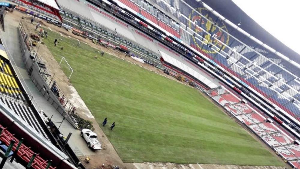 Estadio Azteca inicia instalación de césped natural - Estadio Azteca césped