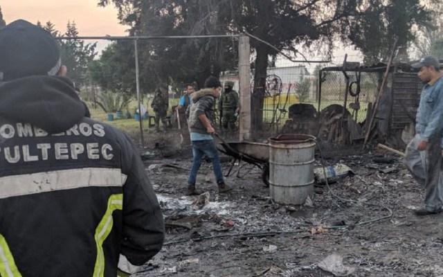 #Video Doble explosión de polvorín en Tultepec - Bomberos de Tultepec atendieron la explosión de dos polvorines en La Saucera. Foto de Twitter