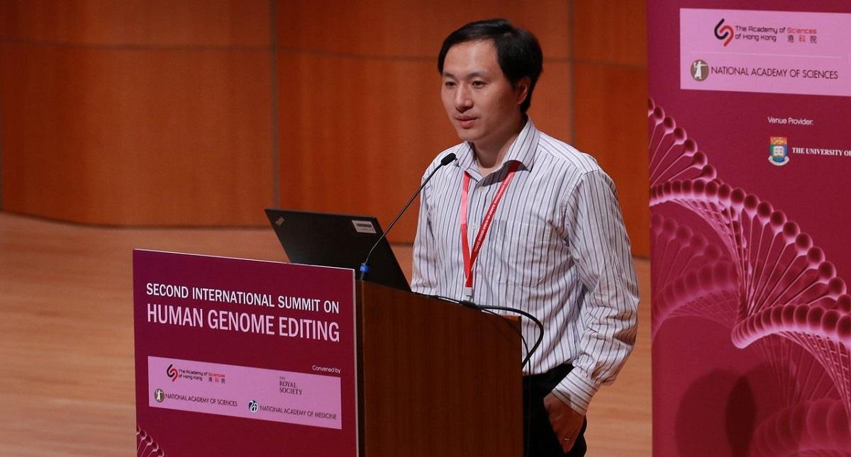 He Jiankui en conferencia. Foto de Internet