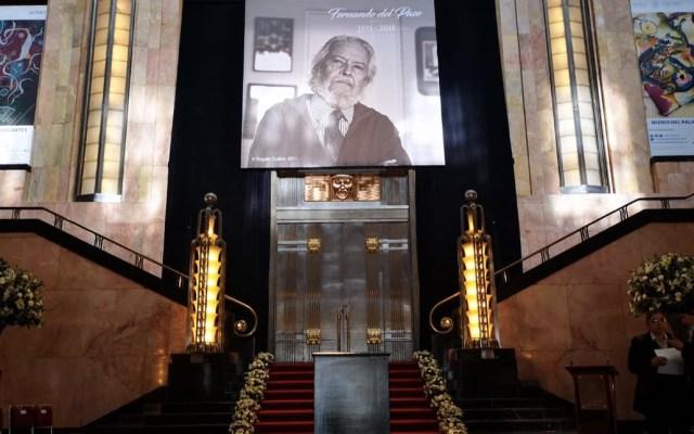 Homenaje nacional al escritor Fernando Del Paso en el Palacio de Bellas Artes - Foto de Twitter Palacio de Bellas Artes