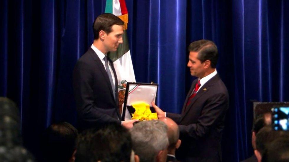 EPN entrega a Jared Kushner la Orden del Águila Azteca - Kushner