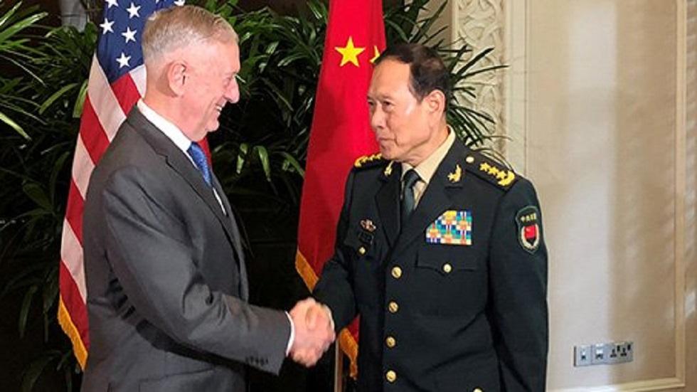 Jim Mattis y Yang Jiechi. Foto de Twitter