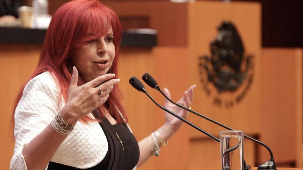 Layda Sansores con mayor impacto negativo en medios - Foto de Senado de la República