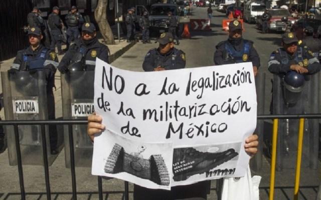 ONU celebra inconstitucionalidad de Ley de Seguridad Interior - Protesta contra la Ley de Seguridad Interior. Foto de Internet