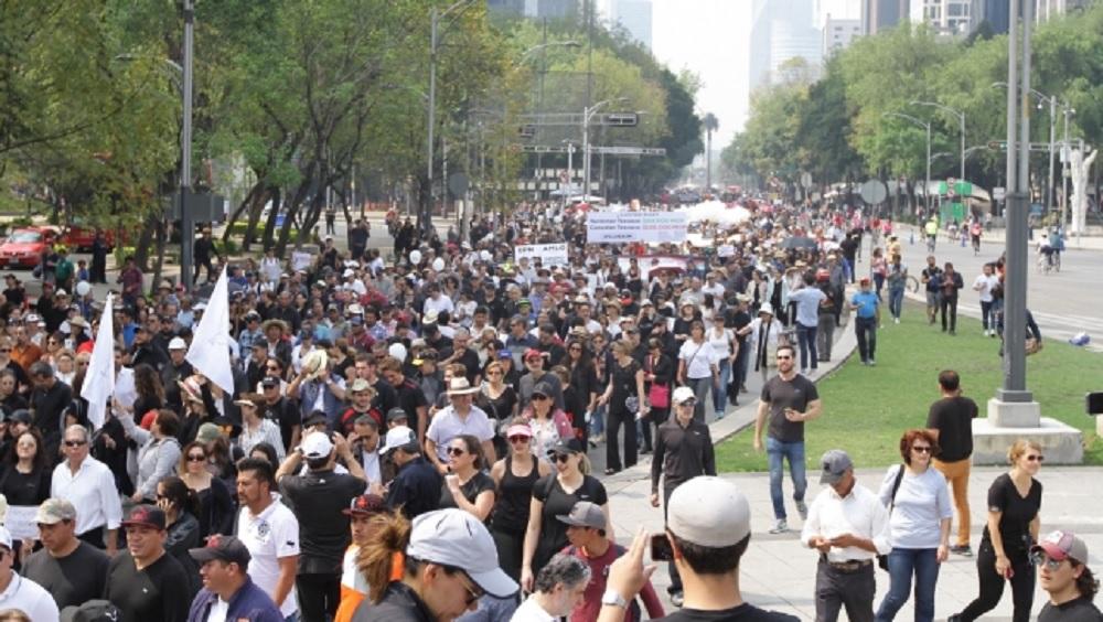 Al menos seis movilizaciones en la Ciudad de México. Noticias en tiempo real
