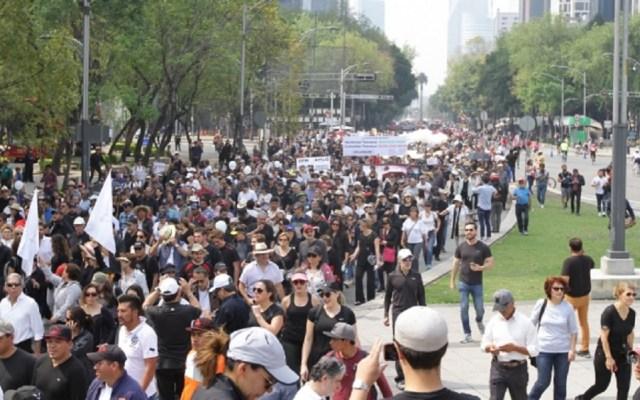 Las movilizaciones de este jueves en la Ciudad de México - Foto de Notimex