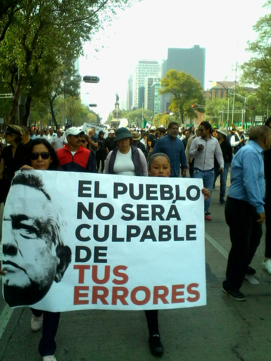 El pasado 11 de noviembre se manifestaron contra la cancelación del NAIM. Foto de @LauraHerrejon
