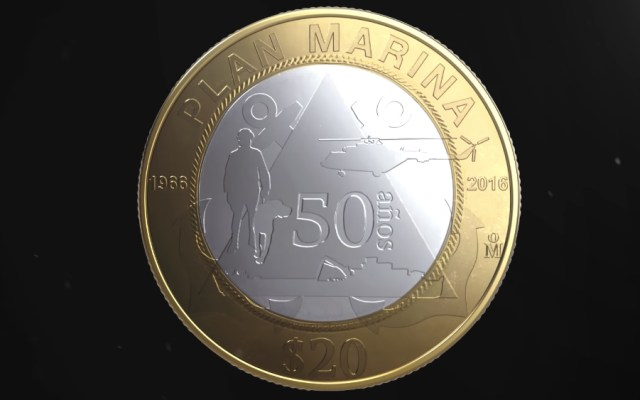 Banxico pone en circulación moneda conmemorativa de la Marina - Foto de Banxico