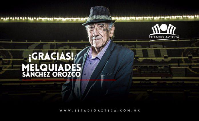 Murió Melquiades Sánchez Orozco, la voz del Estadio Azteca. Noticias en tiempo real