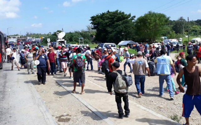 Segunda caravana migrante permanecerá en Matías Romero - migrantes en oaxaca acusan de olvido de las autoridades