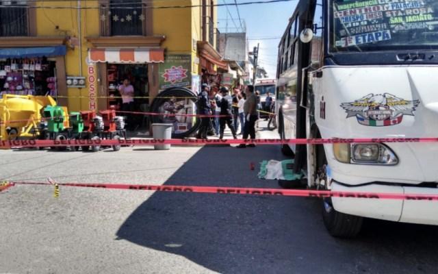Muere mujer atropellada por autobús en centro de Oaxaca - Foto de @Estado20