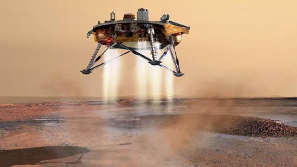NASA descubre antiguo lago en el planeta Marte- Nave espacial que se enviará a Marte para hallar posible vida