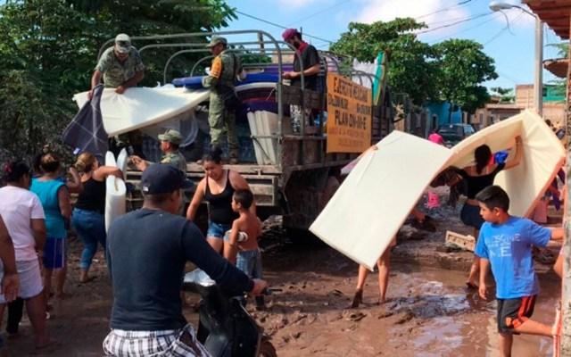 Continúa atención de afectados en Nayarit por huracán Willa - Foto de Notimex