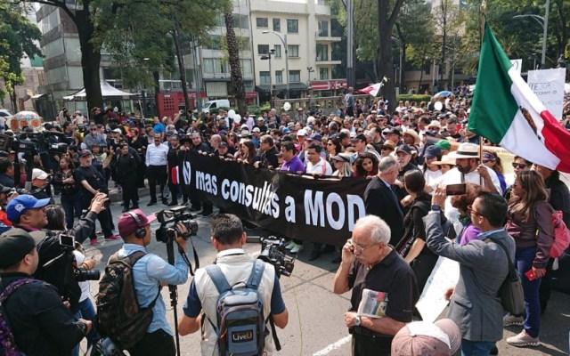 Anuncian nueva marcha contra López Obrador en la CDMX - La nueva marcha será contra las consultas sobre el Tren Maya y refinerías. Foto de @LauraHerrejon