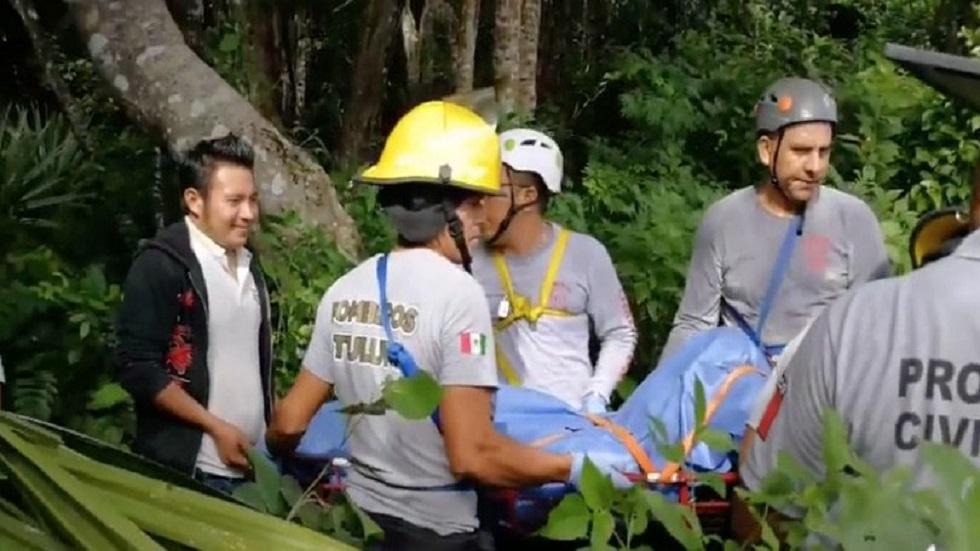 Operativo de rescate de cuerpos de buzos en Tulum. Foto de Internet
