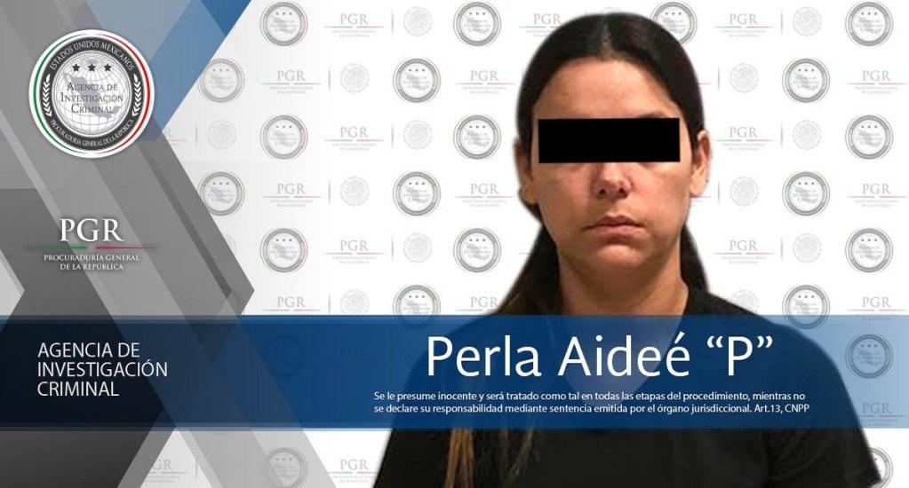 Aseguran en Tamaulipas a mujer buscada por la justicia Argentina - Perla Aideé tenía una ficha de búsqueda de la Interpol. Foto de @PGR_AIC