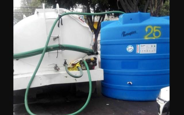 Iztapalapa en crisis por falta de agua - Foto de Twitter Clara Brugada