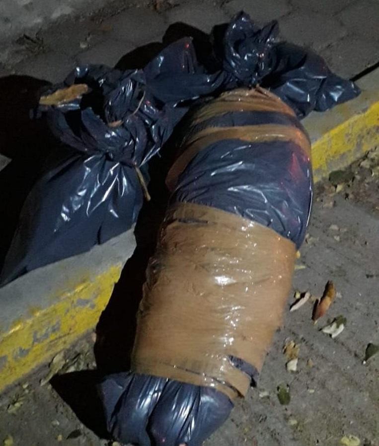 Restos humanos pertenecientes a excoordinador de la Policía Estatal de Guerrero en la Zona Norte. Foto de Twitter