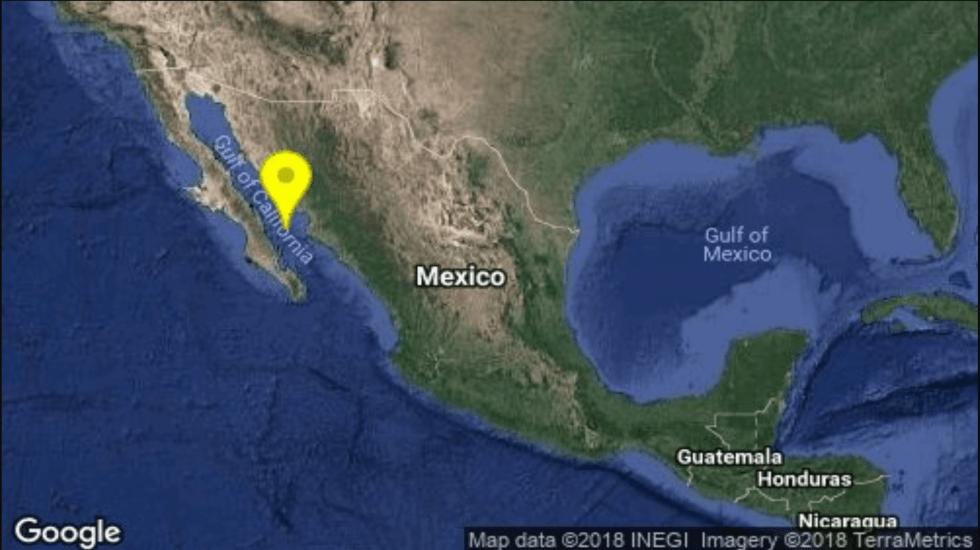 Sismo magnitud 4.8 en Baja California Sur - Foto de @SSNMexico