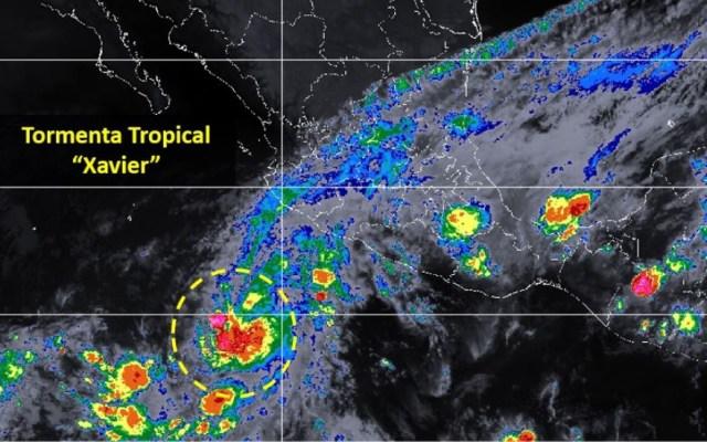 Se forma la tormenta tropical Xavier al suroeste de Manzanilllo - Foto de Conagua