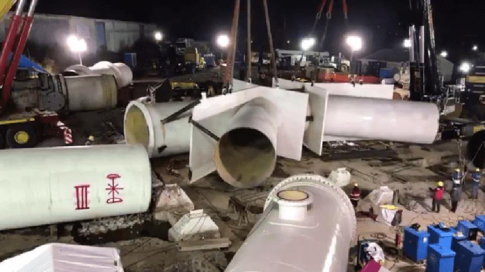 Corte de agua transcurre sin problemas mayores en la CDMX - Trabajos en el Sistema Cutzamala. Foto de Internet