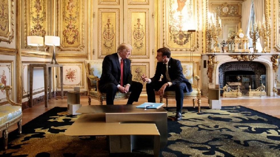 Macron intenta reducir tensión con Trump sobre defensa europea - Foto de @Elysee