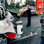 Choque deja seis heridos en la Texcoco-Lechería - Foto de @israellorenzana