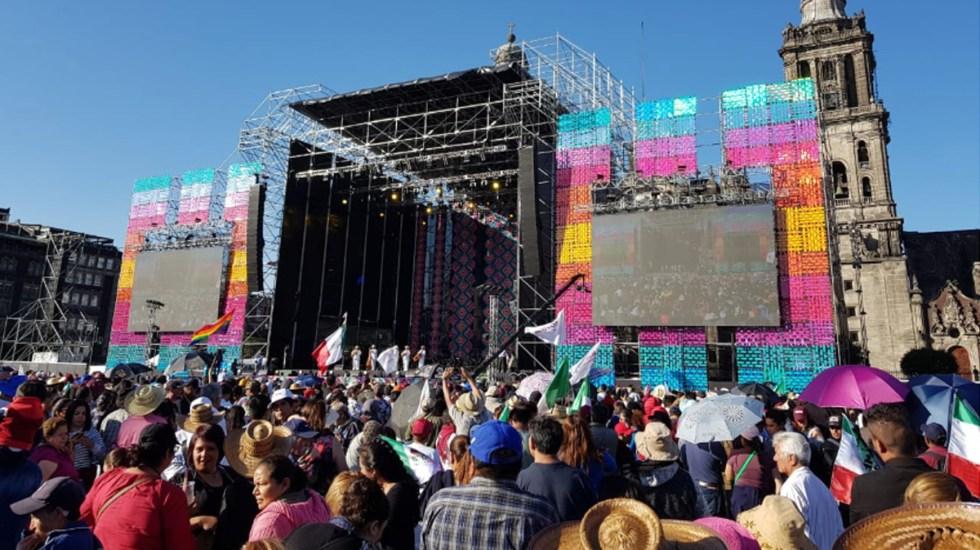 AMLO Fest en el Zócalo capitalino arranca con 50 mil personas - Foto de Carlos Tomasini