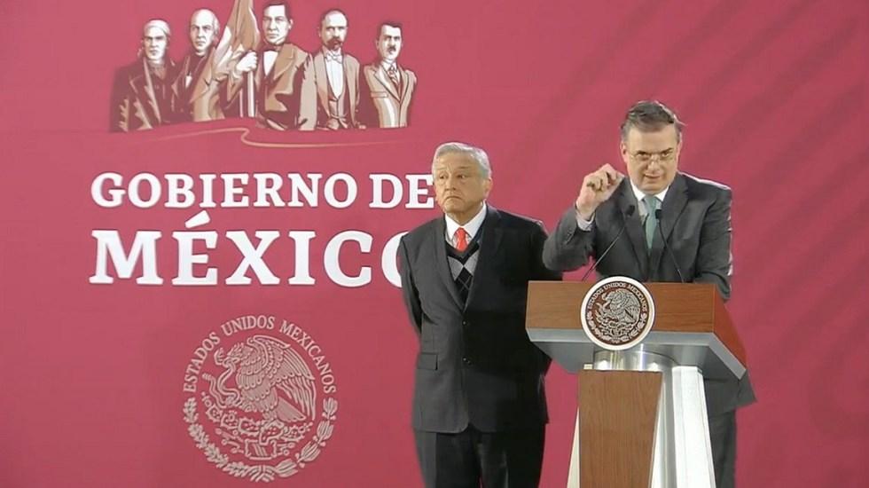 En marzo iniciará construcción de pistas en Santa Lucía: AMLO - AMLO y Marcelo Ebrard en conferencia. Captura de pantalla