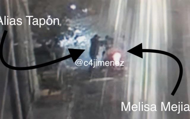 Graban asesinato de sospechosa de feminicidio a joven en Tlatelolco - Momento del asesinato de Melisa. Foto de @c4jimenez