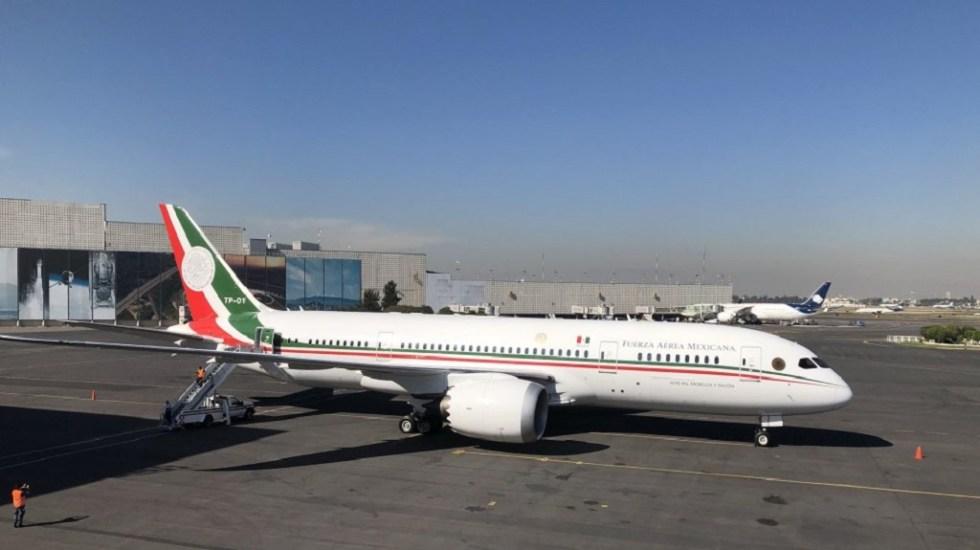 Inicia proceso formal para subasta del avión presidencial - Despegue del avión presidencial rumbo a EE.UU. para su venta. Foto de Notimex