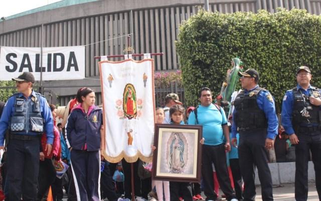 Vigilan inmediaciones de la Basílica de Guadalupe ante arribo de peregrinos - Foto de Twitter SSP