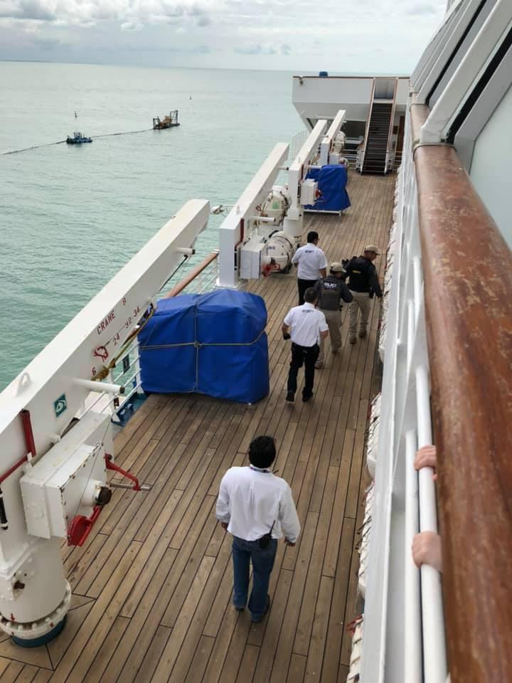 Búsqueda de joven autista en crucero. Foto de @cruiselifecargo