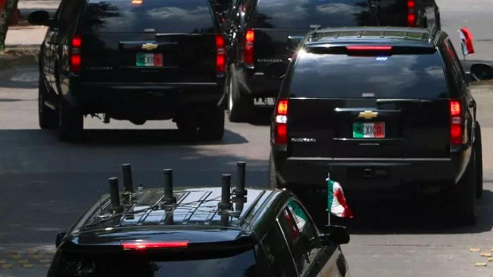 López Obrador utilizará vehículo oficial pero sin blindaje - camionetas estado mayor