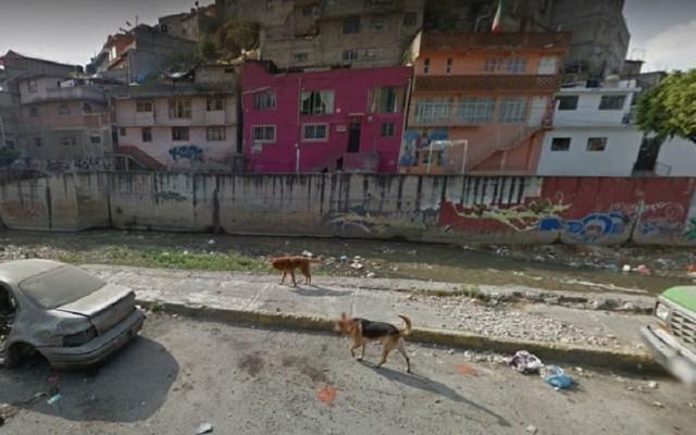 Vecinos hallan cadáver de mujer en canal de Naucalpan - Canal de aguas negras donde fue hallado el cuerpo de la mujer. Foto de Google Maps
