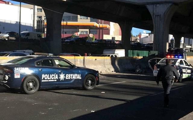 Cierran Periférico Norte por accidente - Cierre de carriles centrales en Periférico Norte. Foto de Twitter