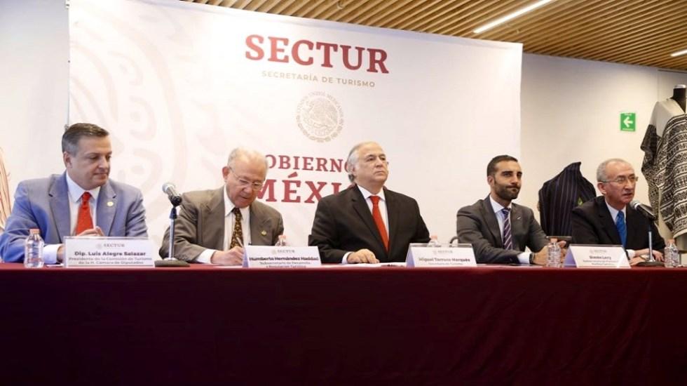 Torruco anuncia liquidación del Consejo de Promoción Turística - Conferencia de Miguel Torruco Marqués. Foto de @TorrucoTurismo