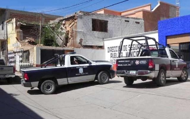 Jefe policiaco sufre atentado en Zacatecas - Dirección de Seguridad Municipal de Miguel Auza, Zacatecas. Foto de Internet