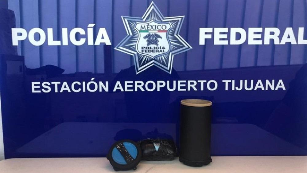 Interceptan cargamento de fentanilo escondido en bocina - Fentanilo decomisado en Tijuana. Foto de @PoliciaFederaldeMexicoPoliciaparalaPaz
