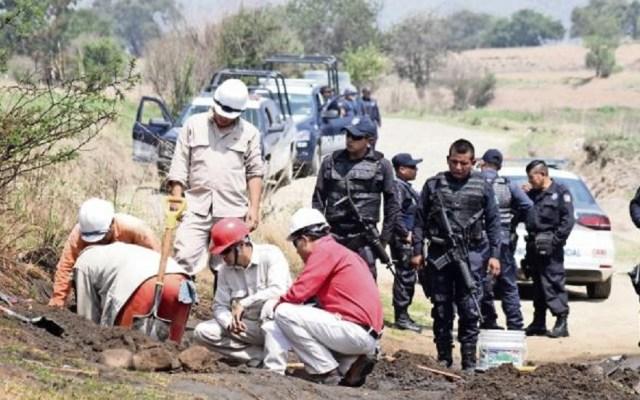 SHCP denuncia lavado de dinero derivado del robo de combustible - Hallazgo de toma clandestina por robo de combustible. Foto de Internet