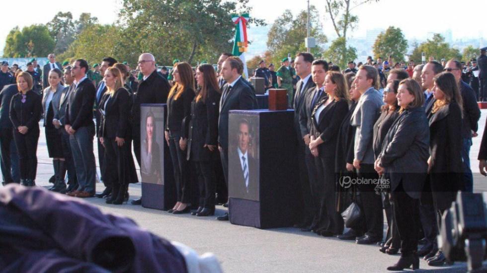 Despiden a Martha Erika Alonso y Moreno Valle en Puebla - Foto de @Poblanerias