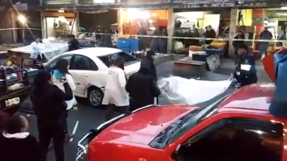 Asesinan a automovilista en La Merced - Levantamiento de cadáver en La Merced. Captura de pantalla